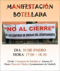 Cartel manifestacion 30 enero